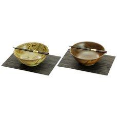 Mino Ware Wood Style Noodle Bowl Set