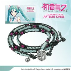 Hatsune Miku Leather Wrap Bracelet