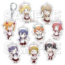 Love Live! -9 Waitresses☆- Trading Acrylic Keychain Complete Box Set