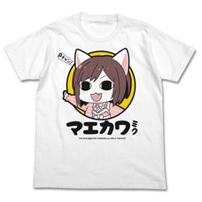 The Idolm@ster Cinderella Girls Theater Miku Maekawa White T-Shirt