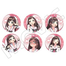 Kizuna AI Character Badge Collection Box Set