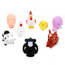 Omoshiro Sound LED Light Animal Keychain Collection