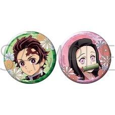 Demon Slayer: Kimetsu no Yaiba Tanjiro & Nezuko Pin Badge Set