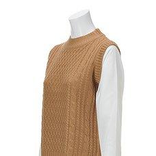 OLIVE des OLIVE Coordinated Style High-Neck Knit Pullover