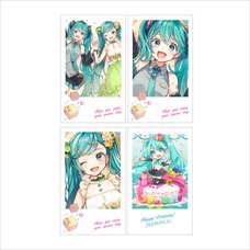 Hatsune Miku Birthday Party Polaroid-Style Card Set: Miku BD 2020 Ver.
