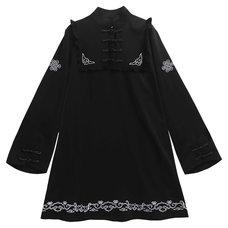 LISTEN FLAVOR Black Bat China Dress