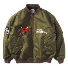 [PDS x Toy Machine] MA-1 Khaki Jacket