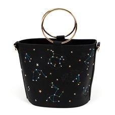 FLAPPER Animal Constellation Black Bucket Bag
