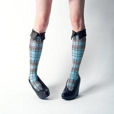 ERIMAKI SOX Tartan Checkered High Socks