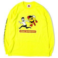 [PDS x Pac-Man] Escape Neon Yellow Long Sleeve T-Shirt