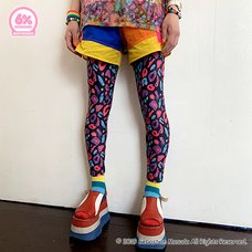 6%DOKIDOKI Colorful Rebellion/Animal Boyfriend Leggings