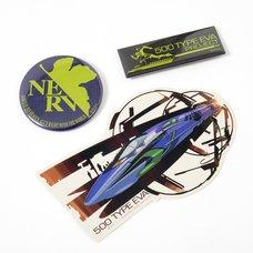 EVA STORE Tokyo-01 Original 500 Type Eva Diecut Sticker & Tin Badge Set