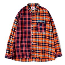 Otaku Orange Flannel Shirt