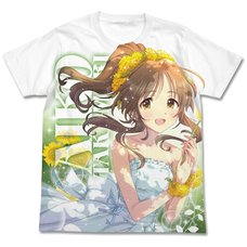 The Idolm@ster Cinderella Girls Yurufuwa Maiden Aiko Takamori Full-Color White T-Shirt