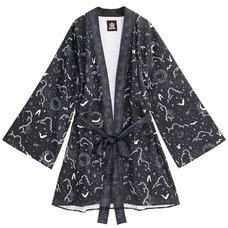 LISTEN FLAVOR Magical Night Black Kimono Robe