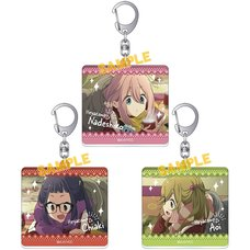 Laid-Back Camp Charaby Acrylic Keychain Collection