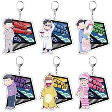 Osomatsu-san Pajamatsu Ver. Acrylic Keychain Charm Collection