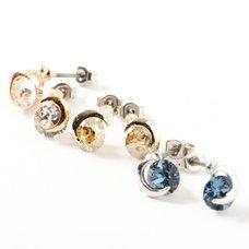 Osewaya Moon & Jewel Earrings