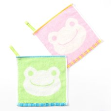 Pickles the Frog Mini Handkerchief Towel w/ Loop