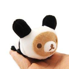 Rilakkuma Panda de Goron Mochipettan Palm-sized Plush