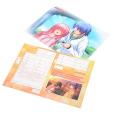 Key 20th Anniversary Angel Beats! Marriage Registration w/ Clear Poster
