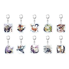 Monster Hunter Rise Monster Icon Acrylic Strap Collection Box Set