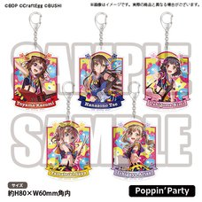 BanG Dream! Girls Band Party! Poppin'Party Acrylic Keychain Collection