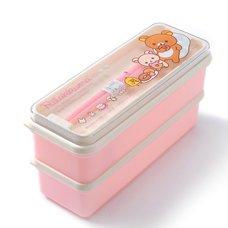 Rilakkuma 2-Tier Mini Bento Box w/ Chopsticks