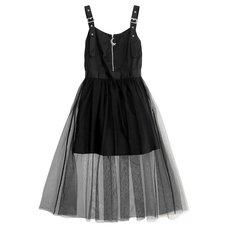 LISTEN FLAVOR Melty Moon Zip Tulle Jumper Skirt