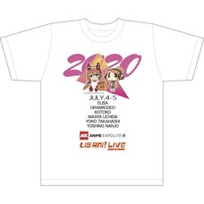 AX Lite x Lis Ani! LIVE T-Shirt E White