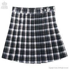 LISTEN FLAVOR Check Pleated Skirt