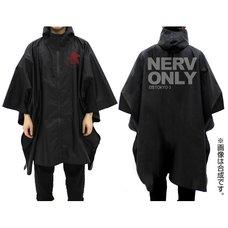 Evangelion NERV Black Rain Poncho