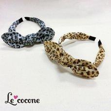 Le cocone Leopard Print Ribbon Katyusha