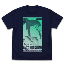 Love Live! Sunshine!! Kanan Matsuura: All Stars Ver. Navy T-Shirt