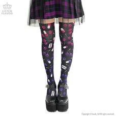LISTEN FLAVOR Cherry Knee-High Socks
