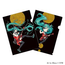 Hatsune Miku x Hard Rock Family Live Collaboration Clear File Set