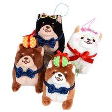 Chuken Mochi Shiba Rice Shop Birthday Standing Mini Strap Plush Collection