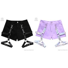 LISTEN FLAVOR Detachable Harness Garter Belt Shorts L