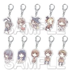 Rascal Does Not Dream of Bunny Girl Senpai Trading Acrylic Keychain Charms Box Set