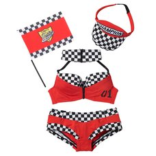 YUMMY MART Race Queen Lingerie Set
