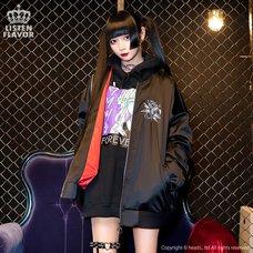 LISTEN FLAVOR Secret Ritual Shirred Sleeve MA-1 Jacket