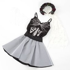GLAD NEWS Gothic Wedding Dress Set