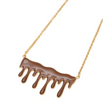 Q-pot. Melty Milk Chocolate Necklace