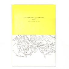 Edge Concept Art Illustrations Postcard Book