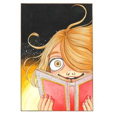 Kanako Inuki Fushigi no Tatari-chan Reading Reproduction Art Print