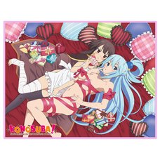 Konosuba Aqua & Megumin Sublimation Throw Blanket