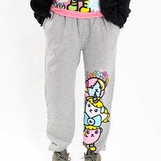 Mameshi-Pamyu-Pamyu Mame Pamyu & Friends Fleece-Lined Sweatpants