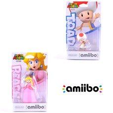 Super Mario Peach amiibo w/ Free Toad amiibo