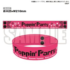 BanG Dream! Girls Band Party! Poppin'Party Rubber Wristband