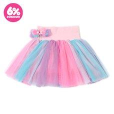 6%DOKIDOKI Drapey Panier Skirt w/ Ribbon Clip & Brooch